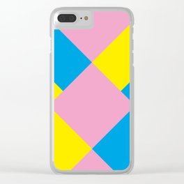 Cool polygons, and squares, and things that looks 3d but they aren't, and tiny mistakes in R corner. Clear iPhone Case