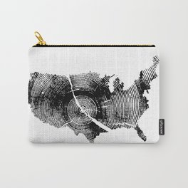 United States Print, Tree rings, Tree stump, Wood grain, Tree ring art Carry-All Pouch