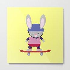 Bunny Skater Metal Print