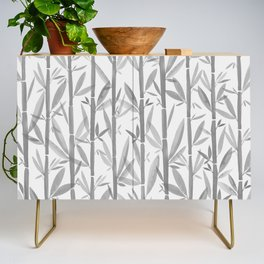 Bamboo Forest / Neutral Botanical Pattern Credenza