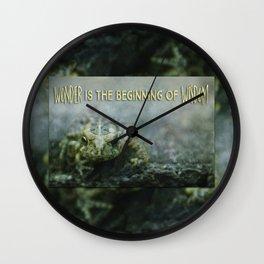 Wonder Wisdom Wall Clock