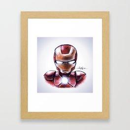 Iron Man - Chibi Anime Style Framed Art Print