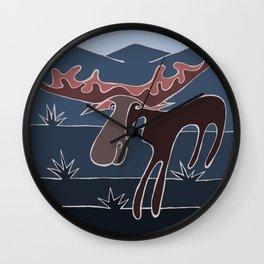 Blue Mountain Moose Wall Clock