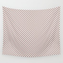 Adobe Rose and White Polka Dots Wall Tapestry