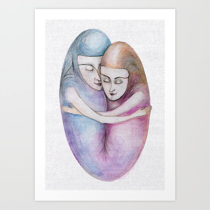 absolute togetherness Art Print