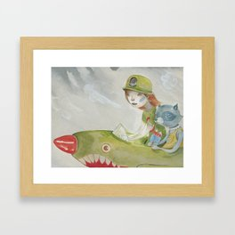 Rocket Pop Framed Art Print
