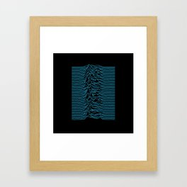 Joy Division - Unknown Pleasures [Blue Lines] Framed Art Print