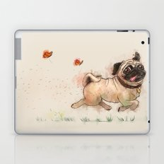 The Furminator pug watercolor like art Laptop & iPad Skin