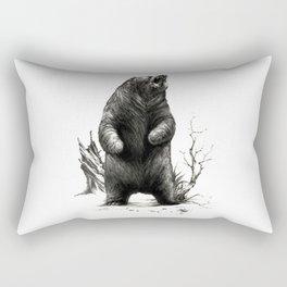 Angry Bear Rectangular Pillow