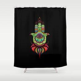Hamsa Hand Protection Shower Curtain