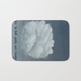 Ceci n'est pas un nuage Bath Mat