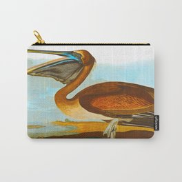 Brown Pelican Illustration Carry-All Pouch