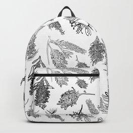 Black and White Australia Print Backpack