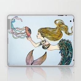 Jellyfish and Mermaid Laptop & iPad Skin