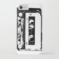 cassette iPhone & iPod Cases featuring cassette by Gabriel