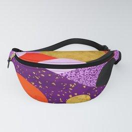 Terrazzo galaxy purple orange gold Fanny Pack