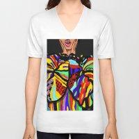 big poppa V-neck T-shirts featuring Big Poppa by Hannah  Aryee
