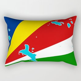 Seychelles Flag with Maps of the Seychelles Islands Rectangular Pillow