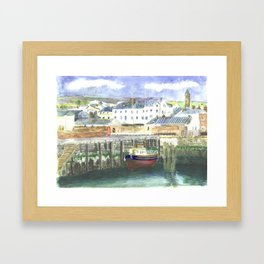 Peel Harbour Isle of Man Framed Art Print