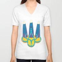 ukraine V-neck T-shirts featuring Ukraine by nushutu