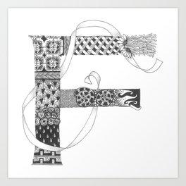 """Zenletter """"F"""" Art Print"""