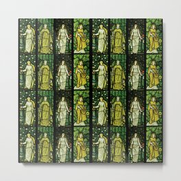 "William Morris ""Four seasons"" (Dining Room at Cragside House, Northumberland, UK) Metal Print"
