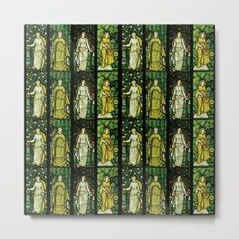"William Morris ""Four seasons"" (Dining Room at Cragside House, Northumberland, UK) Metal Print"
