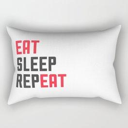 EAT SLEEP REPEAT Rectangular Pillow