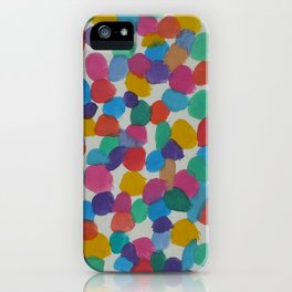 Rainbow Dots Abstract Watercolor Art iPhone Case