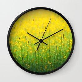 Field green yellow Wall Clock