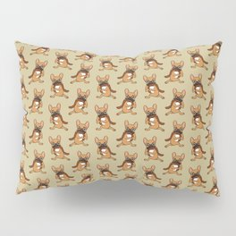Black Mask Fawn Frenchie is a Foodie Pillow Sham