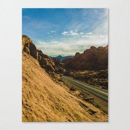 driving through fire Canvas Print