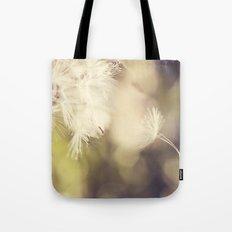 Broken Dandelion, Bokeh Tote Bag