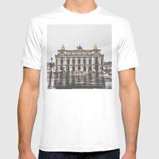 Palais Garnier  Mens Fitted Tee MEDIUM White