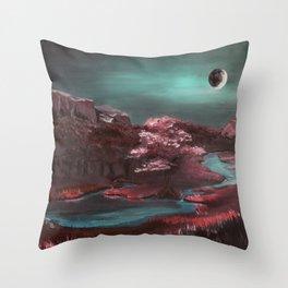 Lunar Flare Throw Pillow