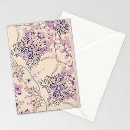 47 Wisteria Circle - Vintage Cream and Lavender Purple Mandala Stationery Cards