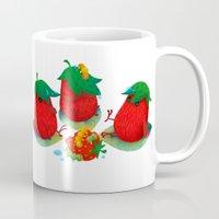 strawberry Mugs featuring Strawberry by DanBee Kim