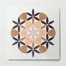 Flower of life - colored Metal Print