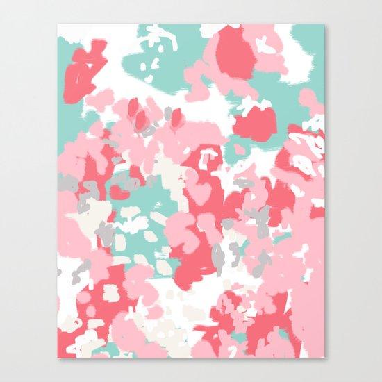 Arabella - abstract minimal pattern print art home decor trendy girly boho dorm college painting Canvas Print