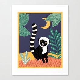Lemur of the jungle Canvas Print