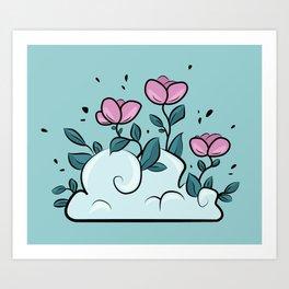 Flower Cloud Art Print