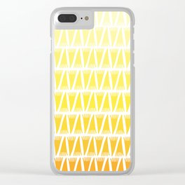Tee Pee Yellow Gradient Clear iPhone Case