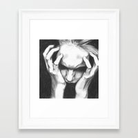 pain Framed Art Prints featuring Pain by ArtLm