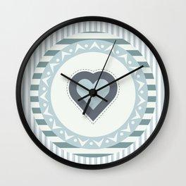 Blue heart Wall Clock