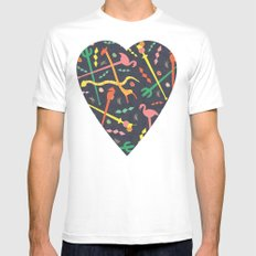 MCM Swizzle a Go Go White MEDIUM Mens Fitted Tee