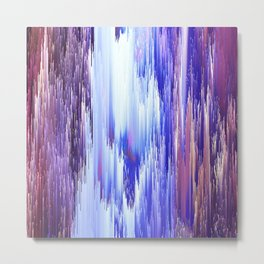 Abstract Electro One Metal Print