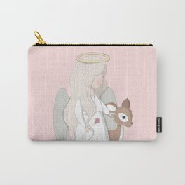 Angel and Deer Carry-All Pouch