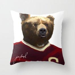 Big Red Bear Portrait Throw Pillow