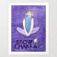 Brow Chakra, Butterfly Pose Art Print