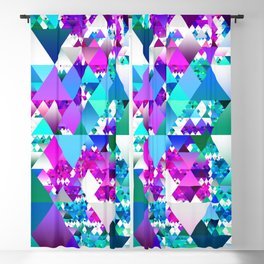 Jewel Tone Triangles Blackout Curtain